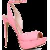 Pink Sling-Back Heels - Sandals -