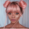 Pink Space Buns Hairstyle - My photos -