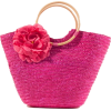 Pink Straw Bag with Flower - Hand bag - £11.99  ~ $15.78