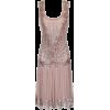 Pink U-Neck Flapper Dress - Dresses -
