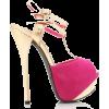 Pink and Beige Platform Heel - Klassische Schuhe -