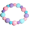 Pink and Blue Beaded Bracelet - Bracelets -