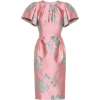 Pink and Gray Flared Sleeve Dress - Dresses -