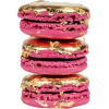 Pink and golden macarons - Food -