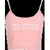 Pink basic printing letter love camisole - Vests - $19.99