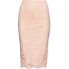 Pink lace pencil skirt - Skirts -