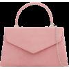 Pink suede clutch bag - 女士无带提包 -