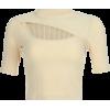 Pit hollow design T-shirt top - T-shirts - $19.99