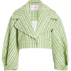 Plaid Stretch-Wool Cropped Jacket by CAR - Jacket - coats -