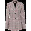 Plaid Wool Blazer - Jaquetas -