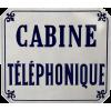 Plaque émaillée CabineTéléphonique 1960s - Items -