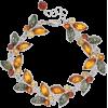 Platinum Over Silver Amber Butterfly Bra - Bracelets - $180.00