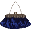 Pleated Satin Evening Clutch Bag With Crystals Blue - Borse con fibbia - $34.99  ~ 30.05€