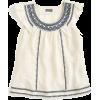 Point Sur embroidered flutter linen top - Camisas -
