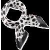Polka dot scarf  black and white - Scarf -
