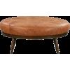 Poly & Bark Gio Ottoman Cognac Tan - Furniture -