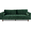 Poly & Bark inga sofa in green velvet - Furniture -