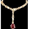 Pomellato Pink Tourmaline Gold Chain Nec - Necklaces - $8.30