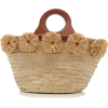 Poolside Ischia Raffia-Trimmed Straw Tot - Hand bag -