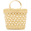 Poolside Mini Embellished Straw Tote - Hand bag -