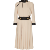 Prada Button-Detailed Pleated Crepe Midi - Dresses -