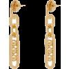 Prada Chain-link Drop Earrings - Uhani -