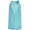 Prada Flower-Trimmed Satin Midi Skirt - Skirts -