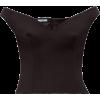Prada Off-the-shoulder Gabardine Top - Shirts -