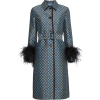 Prada Ostrich Feather Trimmed coat - Jacket - coats -