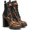 Prada Printed calf-hair ankle boots - Boots -