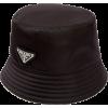 Prada Triangle-plaque Nylon Bucket Hat - Hat -