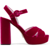 Prada Velvet Pink Sandals - Sandalias -