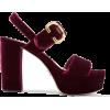 Prada Velvet platform sandal - 凉鞋 -