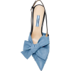 Prada sandals in blue with bow - Sandale -