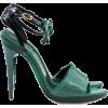 Pre-owned Chloe Dark green sandals - Sandale - 200.00€
