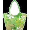Printed Lime Green Handbag - Hand bag -