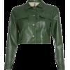 Pu jacket green pocket locomotive jacket - Shirts - $35.99