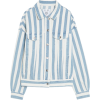 Pull & Bear Oversized striped denim jack - 外套 - £25.99  ~ ¥229.13