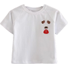 Puppy Embroidery Round Neck Turtleneck T - T-shirts - $17.99