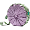 Purple And Green Clutch - Clutch bags -