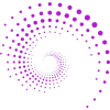 Purple Circle dot swirl - Illustrazioni -