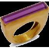 Purple Baguette Ring - 戒指 -