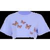 Purple Butterfly Short Sleeve T-Shirt - Shirts - $17.99