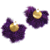 Purple Feathers Hoops - Orecchine -