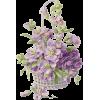 Purple Flower Basket - Plants -