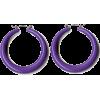 Purple Hoop Earrings - Uhani -