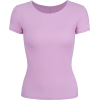 Purple Ice Silk Round Neck Short Sleeve - T-shirt - $21.99  ~ 18.89€