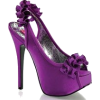 Purple Sling Back Pump with Bow - Sapatos clássicos -
