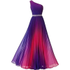 Purple and Red Ombre Dress - Haljine -