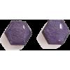 Purple geometric earrings - Orecchine -